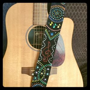 Hand Painted Suede Guitar Straps